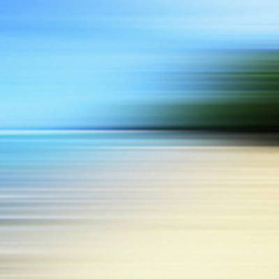 Blurred Beach Art Print by Studio Parris Wakefield