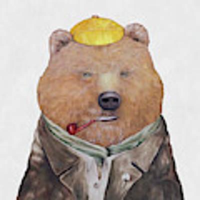 Brown Bear Art Print by Animal Crew