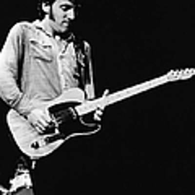 Bruce Springsteen Playing Guitar Live Art Print by American Stock