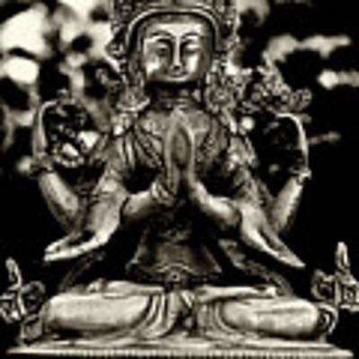 Chenrezig Bodhisattva Art Print by Lita Kelley