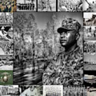 Colonel Trimble Collage Art Print by Al Harden