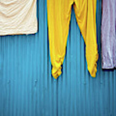 Colorful Laundry Art Print by Nicole Young