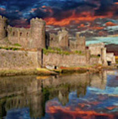 Conwy Castle Sunset Art Print by Adrian Evans