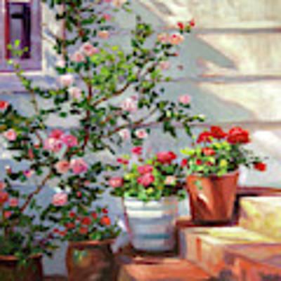 Cottage Steps Art Print by David Lloyd Glover