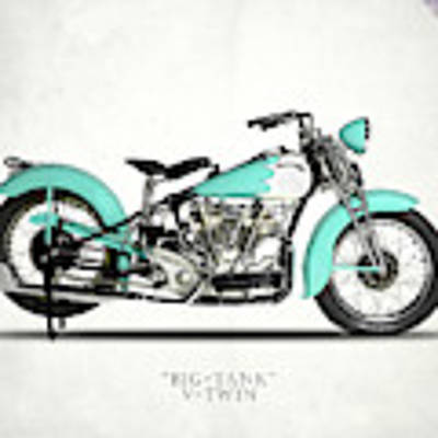 Crocker Big Tank V-twin Art Print by Mark Rogan