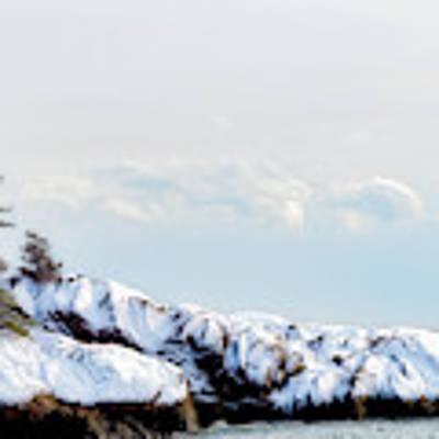 Crow Island, Winter Light Art Print by Michael Hubley