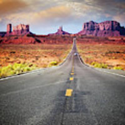 Desert Drive Art Print by Scott Kemper