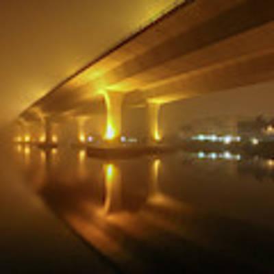 Disappearing Bridge Art Print by Tom Claud