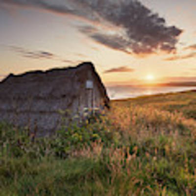 Drying Hut - Freshwater West Art Print by Elliott Coleman
