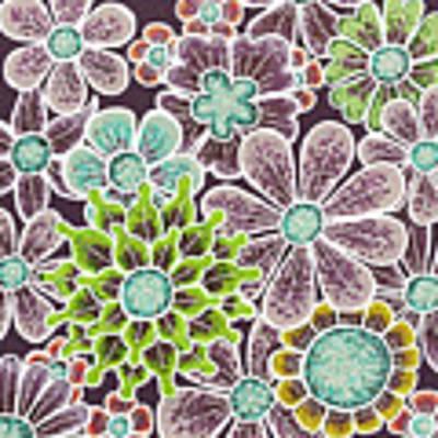 Efflorescent 12 V2 Art Print by Amy E Fraser