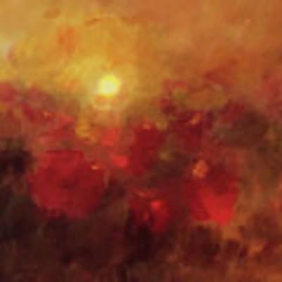 Evening Glow Art Print by Valerie Anne Kelly