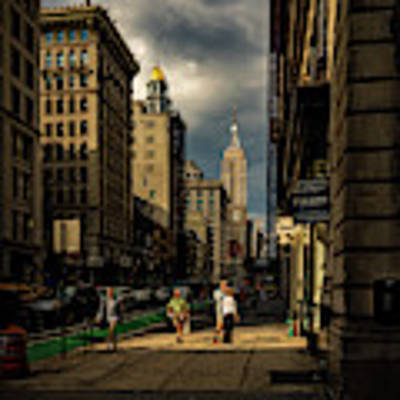 Evening On Fifth Avenue Art Print by Chris Lord