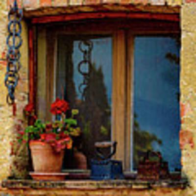 Farm House Window Art Print by Chris Lord
