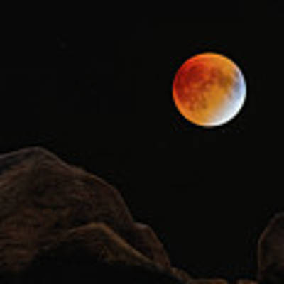 Full Blood Moon, Lunar Eclipse 1 Art Print by Michael Hubley