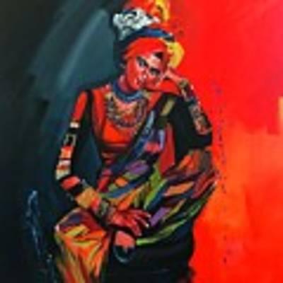 Goddess Of Colors Art Print by Nizar MacNojia