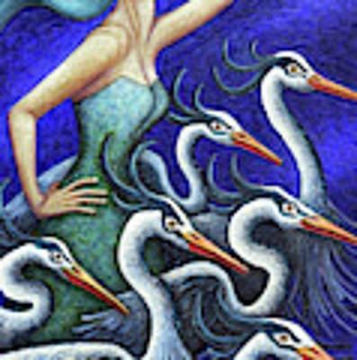 Heron's Run Art Print by Amy E Fraser