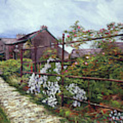 Hill Top, Beatrix Potter Country House Art Print by David Lloyd Glover