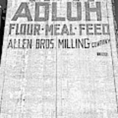 Home Of Adluh Flour Meal Feed Mill Columbia South Carolina Black And White Art Print by Lisa Wooten