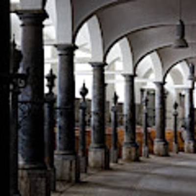 Horse Stalls Of The Royal Stables In Copenhagen Denmark Art Print by William Dickman