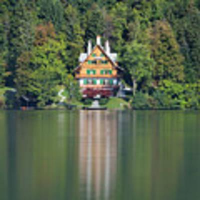 House On The Lake Art Print by Davor Zerjav