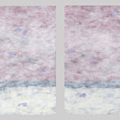 Impressionist Painting Diptych2 Art Print by Gordon Punt