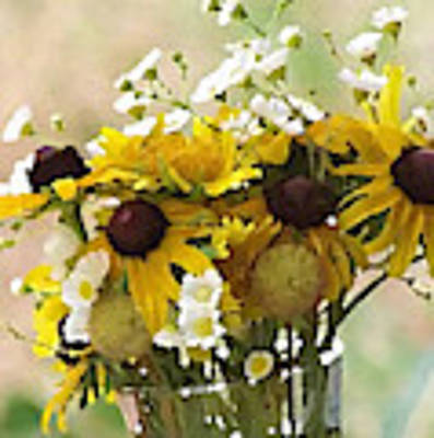 Impressionist Wildflower Arrangement Art Print by Shelli Fitzpatrick