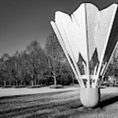 Kansas City Shuttlecock Sculpture In Infrared Monochrome Art Print by Gregory Ballos