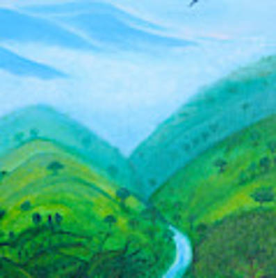 Medellin Natural Art Print by Gabrielle Wilson-Sealy