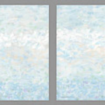 Minimal Modern Art Diptych 2 Art Print by Gordon Punt
