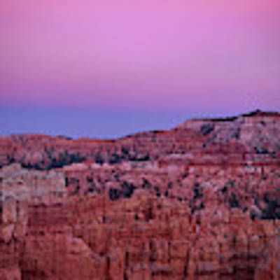 Moonrise Over The Hoodoos Bryce Canyon National Park Utah Art Print by Dave Welling