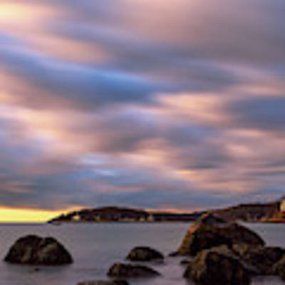 Morning Glow, Stage Fort Park. Gloucester Ma. Art Print by Michael Hubley