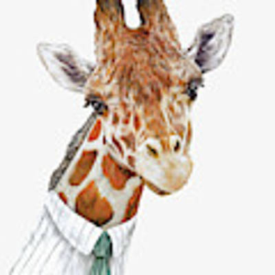 Mr Giraffe Art Print by Animal Crew