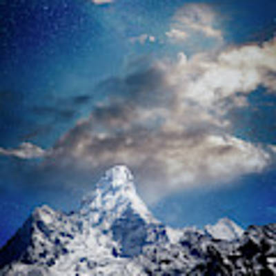 Nightfall Himalaya Art Print by Scott Kemper