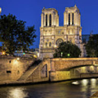 Notre Dame Cathedral Evening Art Print by Jemmy Archer