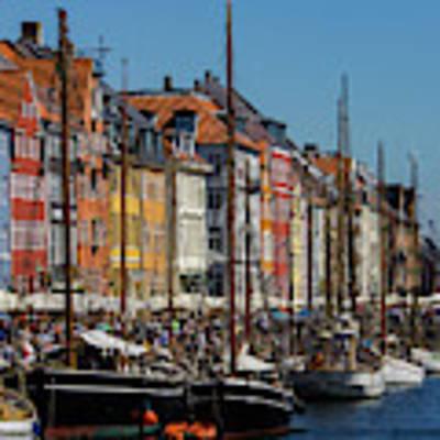 Nyhavn Waterfront In Copenhagen II Art Print by William Dickman
