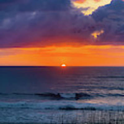 Obx Sunrise On The Last Day Art Print by Lora J Wilson
