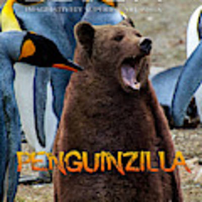 Penguinzilla Art Print by ISAW Company