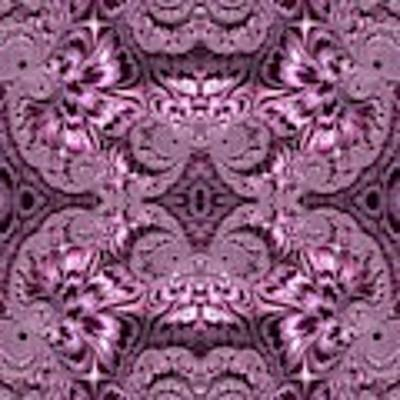 Purple Lilac Gardens And Reflecting Pools Fractal Abstract Art Print by Rose Santuci-Sofranko