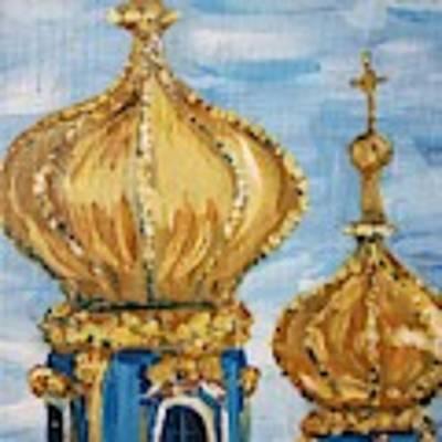Pushkin Palace Towers Art Print by Maria Langgle