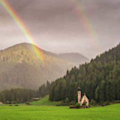 Rainbow Over St  Johann Art Print by James Billings