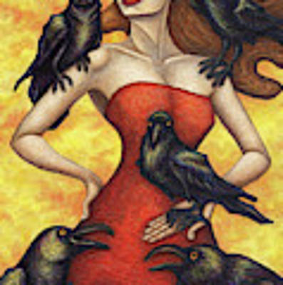 Raven's Council Art Print by Amy E Fraser