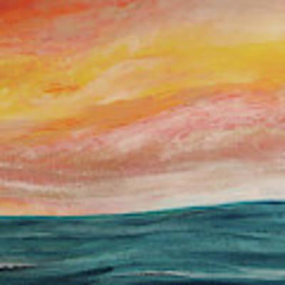 Rolling Ocean Art Print by Valerie Anne Kelly