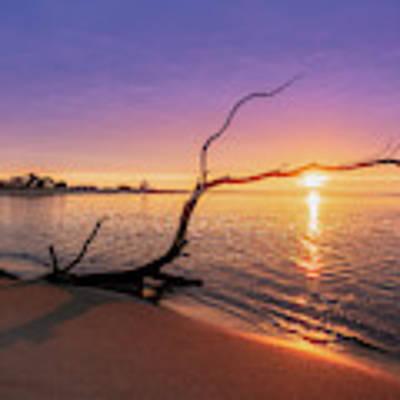 Salisbury Beach Sunrise Art Print by Michael Hubley