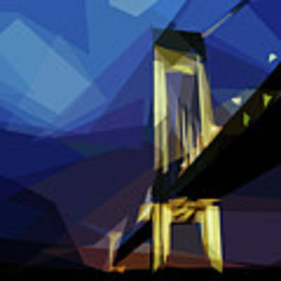 San Francisco Bridge Art Print by ISAW Company