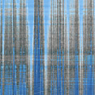 Silver Blue Plaid Abstract #4 Art Print by Patti Deters