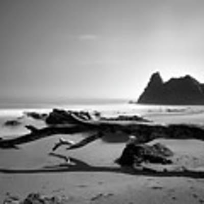 St Cyrus Beach - Scotland - Black And White Art Print by Jason Politte