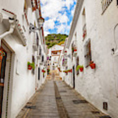 street in Mijas, Spain Art Print by Ariadna De Raadt