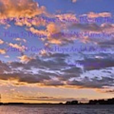 Sunrise Sky Jeremiah 29 11 Art Print by Lisa Wooten