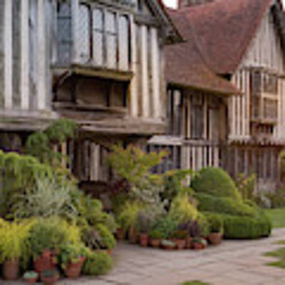Sunset At Great Dixter House And Gardens Art Print by Perry Rodriguez