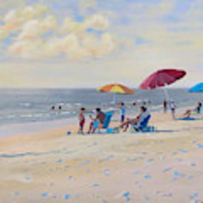 Sunset Beach Observers Art Print by David Gilmore